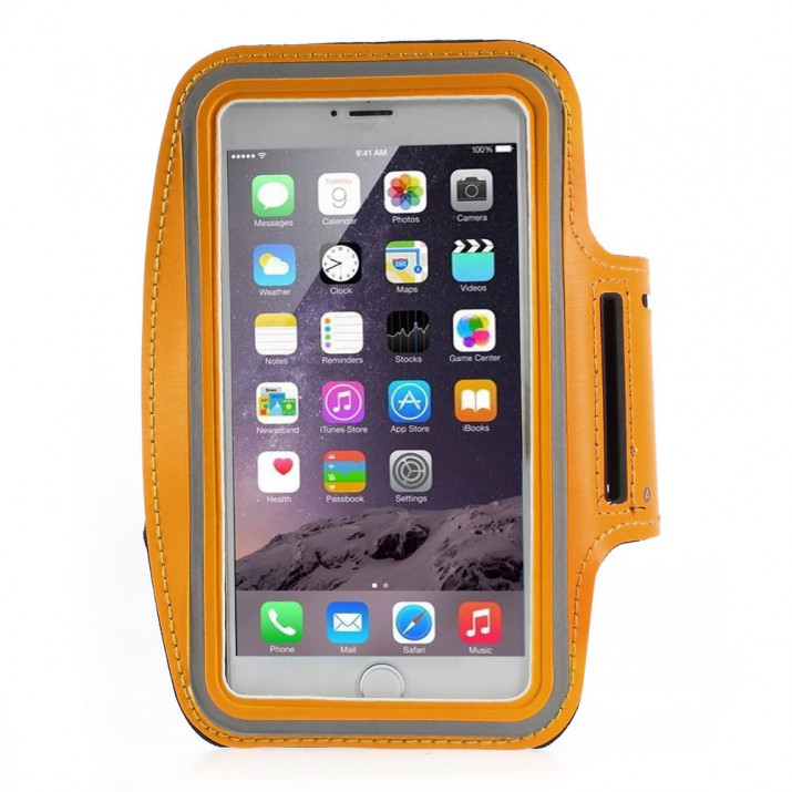 Brassard Sport orange iPhone 6 PLUS néoprene