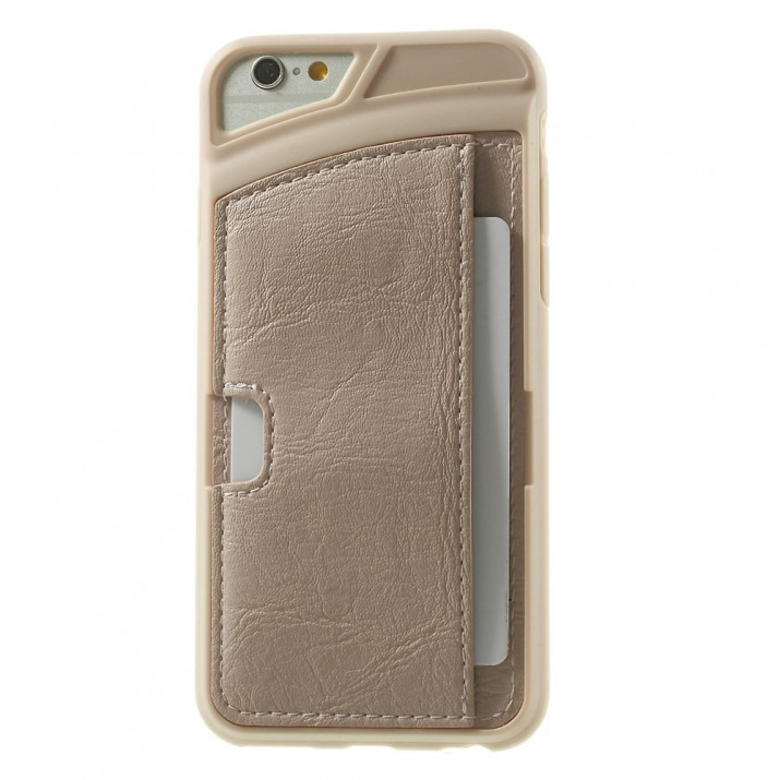Coque de protection iPhone 6 PLUS (5.5 pouces) Beige rosé Porte-Carte