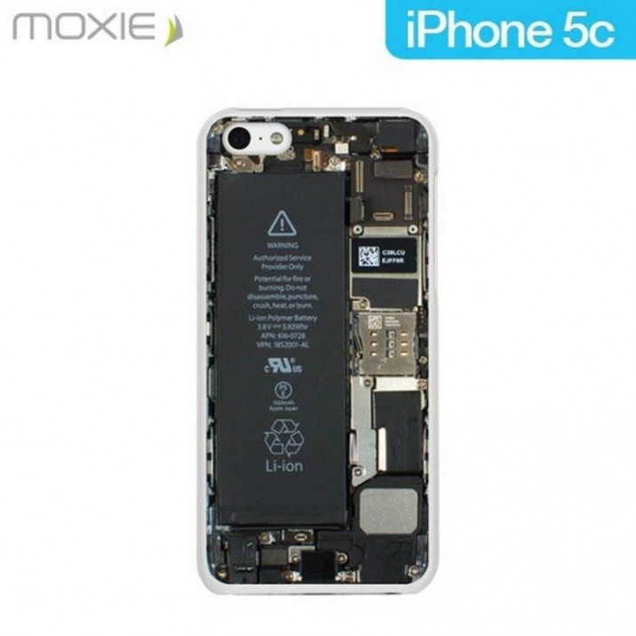 Coque pour iPhone 5C Moxie Crystal Battery collection Inside
