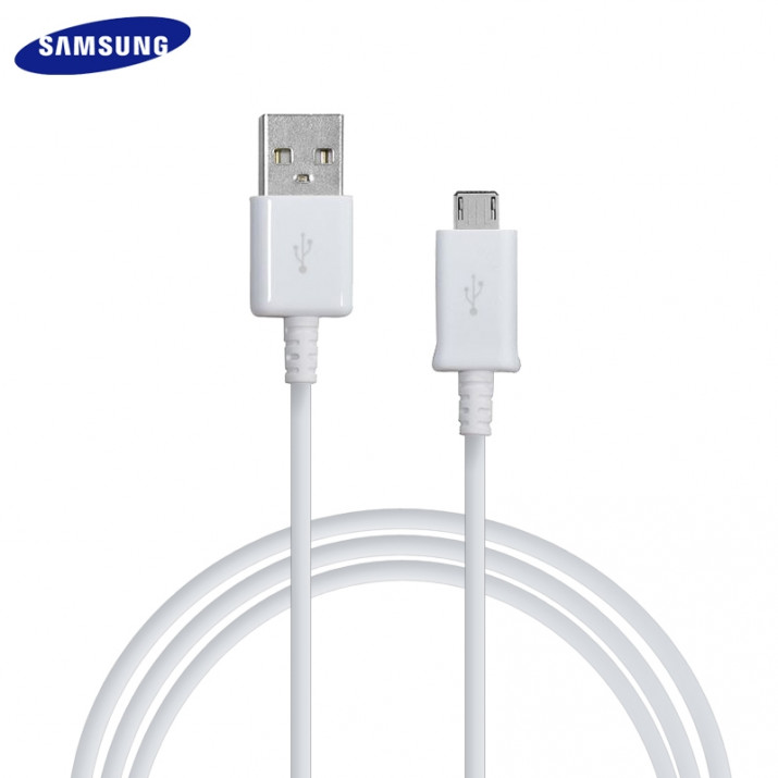 Galaxy S2 Câble 1.5 mètre Data USB à Micro USB Origine Samsung Blanc