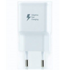 Chargeur Samsung Galaxy S6 Edge G925 Charge Rapide AFC 2A Blanc + cable 100cm USB-micro USB