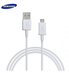 Chargeur Samsung Galaxy S7 Charge Rapide AFC 2A Blanc + cable 1,5 M USB-micro USB