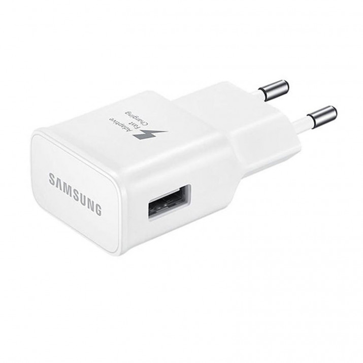 Chargeur SAMSUNG BLANC Charge Rapide PLUG 2A pour Galaxy S6 (EP-TA20EWE)