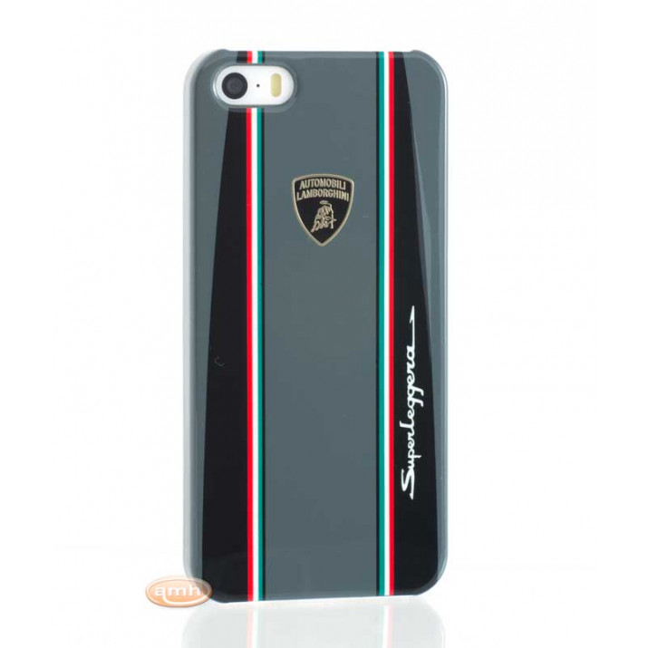 Coque iPhone SE Lamborghini Superleggera D1 GRIS Tricolore