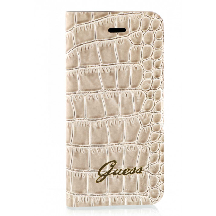 GUESS iPhone 5C folio Croco Beige RECONDITIONNE