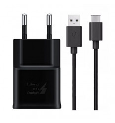 Chargeur Samsung Galaxy S8 Charge Rapide AFC 2A NOIR + cable 150cm TYPE C