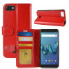 Housse Wiko TOMMY 3 Portefeuille Rouge