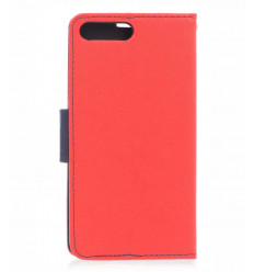 Housse pour HUAWEI Y6 2018 rouge portefeuille