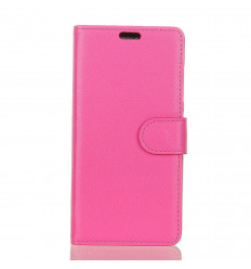 Housse Wiko Harry 2 Portefeuille Rose aspect grainé