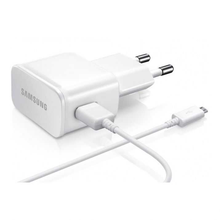 GALAXY A5 version 2015 Chargeur secteur + cable BLANC Micro USB d'Origine ETAOU81W